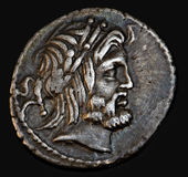 Ancient Roman Coin Procilius stock photos
