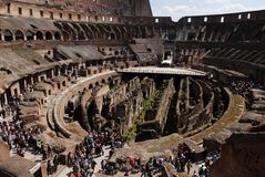 Ancient roman Colosseum Stock Photos