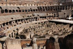 Ancient roman Colosseum Royalty Free Stock Photos