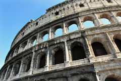 Ancient roman colosseum in Rome, Italy Stock Images
