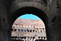 Ancient roman colosseum in Rome, Italy Stock Photography
