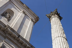 Ancient Roman column Royalty Free Stock Images