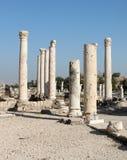 Ancient Roman Columns. Ruins at Beit Shean, Israel Royalty Free Stock Photography