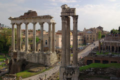 Ancient Roman Columns Stock Photo