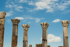 Ancient roman columns royalty free stock image