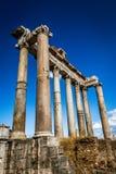 Ancient Roman Columns , Rome, Italy. Ancient Roman Columns  still upright in situ, Rome, Italy Stock Photo