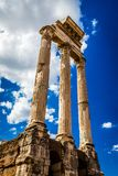 Ancient Roman Columns , Rome, Italy. Ancient Roman Columns  still upright in situ, Rome, Italy Stock Photography