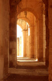 Ancient Roman corridor Stock Images