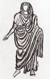 Ancient Roman emperor in a toga Stock Images