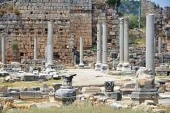 Ancient roman empire antalya turkey, perge, king road Stock Photos