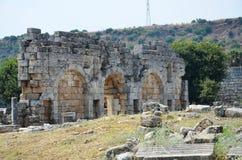 Ancient roman empire antalya turkey, perge, king road Stock Photography