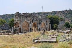 Ancient roman empire antalya turkey, perge, king road Stock Image