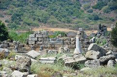 Ancient roman empire antalya turkey, perge, king road Royalty Free Stock Photos