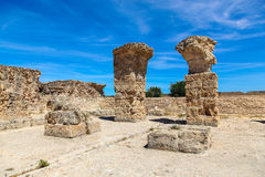 Ancient Roman Empire ruins of Carthage, villas in Tunisa Royalty Free Stock Photography