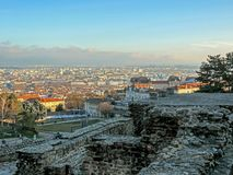 Ancient Roman era Theatre of Fourviere and Odeon on the Fourviere Hill in Lyon, Rhone-Alpes, France royalty free stock image