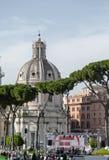 Ancient Roman Forum, the heart of the Italian capital city Royalty Free Stock Photography