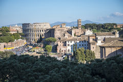 The Ancient Roman Forum and the Palatine Hill in Rome Italy Royalty Free Stock Photos