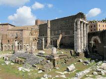 Ancient Roman Forum ruins in Rome Royalty Free Stock Photography