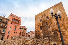 Ancient Roman Forum of Tarragona, Catalonia, Spain Royalty Free Stock Photography