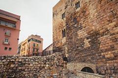Ancient Roman Forum of Tarragona city. Catalonia, Spain Royalty Free Stock Images
