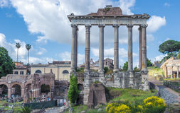 Ancient Roman forums in Rome, Italy Royalty Free Stock Photos