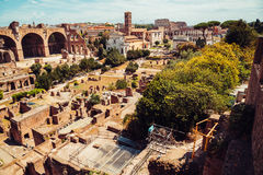 Ancient Roman Forums in Rome, Italy Royalty Free Stock Photography