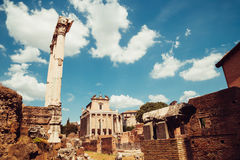 Ancient Roman Forums in Rome, Italy Royalty Free Stock Images