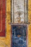 Ancient Roman fresco from the ruins in Pompeii. Stock Photos