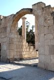 Ancient Roman Gate. With arc at the Beit Shean old city, Israel Stock Photo