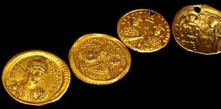 Ancient Roman gold coins royalty free stock photos