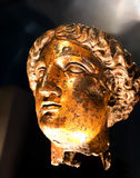 Ancient Roman gold covered head Stock Photos