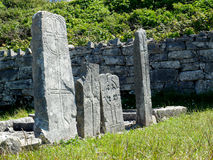 Ancient Roman Gravestones Inishmore Ireland Stock Images