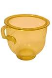 Ancient roman green glass cup Stock Photos