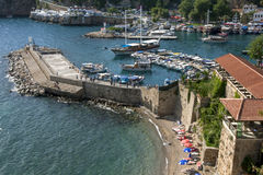 The ancient Roman Harbour in Kaleici in Antalya, Turkey. Stock Image