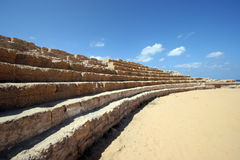 Ancient Roman hippodrome in Caesarea Royalty Free Stock Image