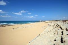 Ancient Roman hippodrome in Caesarea Royalty Free Stock Photos