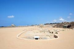 Ancient Roman hippodrome in Caesarea Royalty Free Stock Photo