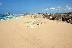 Ancient Roman hippodrome in Caesarea Royalty Free Stock Images
