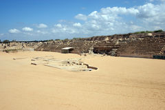 Ancient Roman hippodrome in Caesarea Stock Image