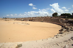 Ancient Roman hippodrome in Caesarea Stock Photo