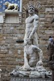 Ancient roman history sculpture in florence italy royalty free stock photos