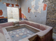 Ancient Roman house in Pompeii Stock Photo