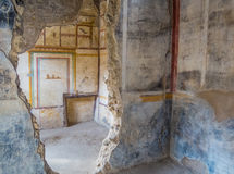 Ancient Roman house in Pompeii Stock Photos