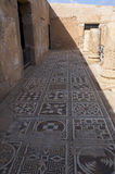 The ancient Roman house - Villa Sileen in Libia. The mosaics of Villa Sileen stock photography
