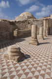 The ancient Roman house - Villa Sileen in Libia. The mosaics of Villa Sileen stock photos