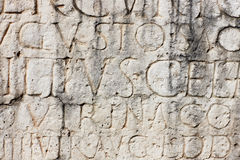 Ancient Roman Inscription Stock Photography