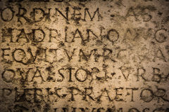 Ancient roman inscription. Narbonne. France Royalty Free Stock Photo