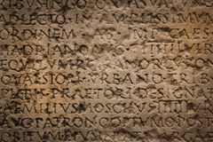 Ancient roman inscription. Narbonne. France Stock Photography