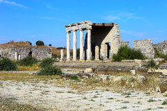 The ancient roman ionic stoa of Miletus Stock Photography