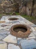 Ancient Roman kitchen in Pompeii Royalty Free Stock Image